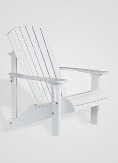 Poly Deluxe Adirondack Chair (White)