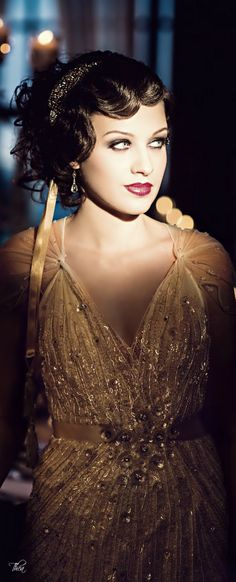 ~ Living a Beautiful Life ~ Great Gatsby Inspired The Great Gatsby, Great Gatsby Fashion, Great Gatsby Wedding, 1920s Wedding Hair, Great Gatsby Makeup, Old Hollywood Glamour, Vintage Glamour, Roaring Twenties, Roaring 20s Hair
