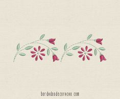 Floral Embroidery Patterns, Vintage Embroidery, Embroidery Applique, Embroidery Stitches, Hand Embroidery Videos, Free Machine Embroidery Designs, Machine Embroidery Patterns, Vintage Embroidery Patterns, Embroidery Patterns Free