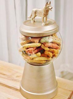Bonbonnière à biscuits pour chiens
