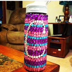 Rhinestoned water bottle #tsm sorority craft