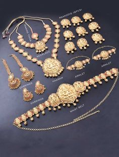 Bridal Jewellery Set with Grand Mahalakshmi Design