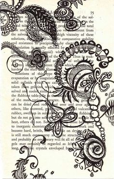 undulating biotic: amazing ink on paper piece