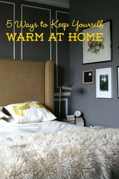 5 Ways to Keep Yourself Warm at Home
