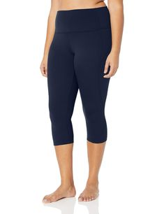 Amazon Brand - Core 10 Women's (XS-3X) 'Nearly Naked' Lightweight Non-Sheer Yoga High Waist Capri Legging - 19' >>> Click image for more details. (This is an Amazon affiliate link) #dressyogapants Capri Leggings, Capri Pants, Dress Yoga Pants, High Waist, Bermuda Shorts, Naked, Core, Amazon, Link