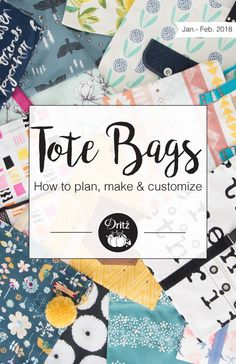 How to plan, make & customize the best totes ever! We have all the tools and inspiration to help get your creative juices flowing for your next big project.
