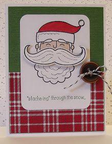 stamping sanity: Santa Stache