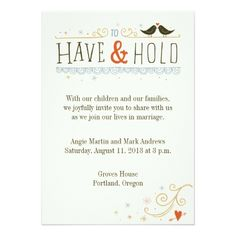 To Have & To Hold Card - tap to personalize and get yours