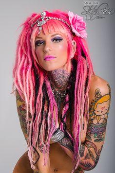 Bambu Jessica - Photo by Steve Cook Stitch360.com  #BambuJessica #suicidegirl #suicidesirens #model #inkedgirl