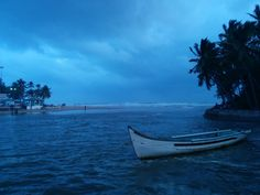 Baga Beach, Goa.  This is the Baga Creek after the pre-monsoon showers.