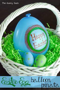 Easter Basket Filler Idea: Balloon Egg Piñata