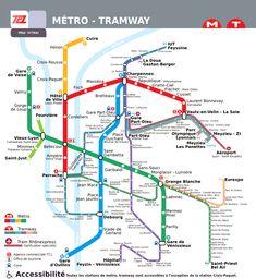 plan cliquable du réseau de métro et tram des TCL Week End Lyon, Lyon France, Tramway, Journey Tour, City Maps, Travel Tours, France Travel, Study Abroad, How To Plan