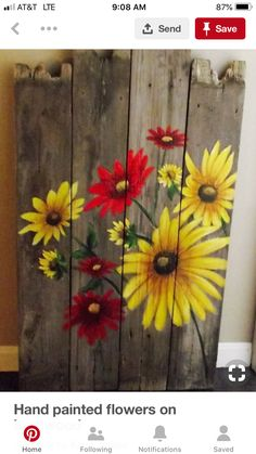 Best garden pallet art fun ideas,Best garden pallet art fun ideas How To Produce Wood Art ? Wood art is typically the work of shaping about and inside, provided that the surfa. Pallet Painting, Tole Painting, Painting On Wood, Fence Painting, Wood Paintings, Country Paintings, Garden Fence Paint, Fence Art, Garden Fences