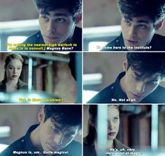 Alec baby you have a crush. #Shadowhunters #1x08