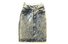 Vintage 80s jean skirt acid wash high waisted by 216vintageModern on Etsy 80s Party Outfits, 80s Jeans, Acid Wash Jeans, Jean Skirt, Black Pattern, Swim Shorts, Swim Trunks, Primary Colors, Sweatshirts