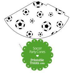 Printable Soccer Party Cones