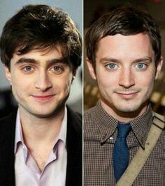 Daniel Radcliffe and Elija Wood