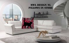 Kissen MWL Design NL 40 x 40 cm   von MWL Design NL Wohndesign und Accessoires  auf DaWanda.com