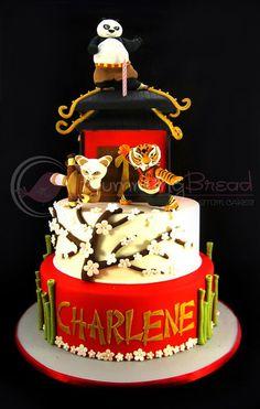 Kung Fu Panda for Charlene Cake by hummingbread Kung Fu Panda Cake, Panda Cakes, 10 Birthday Cake, Panda Birthday, Happy Birthday, Cupcakes, Cupcake Cakes, Kid Cakes, Bolo Panda