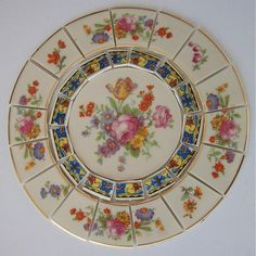 China Mosaic Tile Set 6 1/4 Arrangement by AnnsMixNMatchMosaics