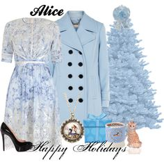 A fashion look from December 2014 featuring swim dresses, double breasted coat and black stilettos. Browse and shop related looks. Disney Bound Outfits, Disney Dresses, Disney Inspired Fashion, Inspired Outfits, Alice In Wonderland Outfit, Alice Cosplay, Witch Outfit, Next Clothes, Long Sleeve Mini Dress