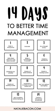 Management : 14 Days To Better Time Management free download template #timemanagement #free