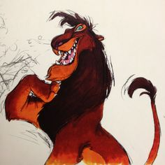 Scar from Lion King art by Chris Sanders