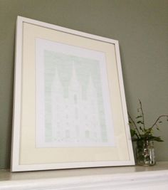 """Salt Lake City LDS TEMPLE (Watercolor Print)  - MormonFavorites.com  """"I cannot believe how many LDS resources I found... It's about time someone thought of this!""""   - MormonFavorites.com"""