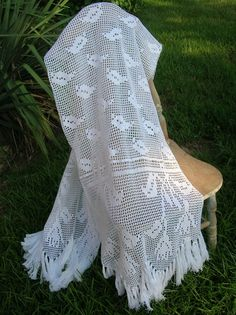 White Filet Crocheted  Women's   by everythingswhite