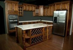 Rustic Brown Kitchen Cabinets - RTA Cabinet Store