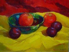 Blue Bowl by Dorothy Schildknecht Oil ~ 12 x 16