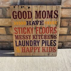 #custom signs by @purplemountaindesign Tag your photos with @craftdco to be featured #artisan #craft #handmade #customsign #pallet #etsy #palletsign #reclaimedwood #reuse #recycle #mom #mother #messykids #walldecor #purplemountaindesign #design #typography #wood #paint #qoute