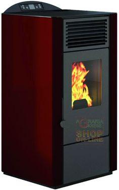 STUFA A PELLET PUNTO FUOCO LORY-10 KW. 9,0 COLORE ROSSO http://www.decariashop.it/home/15825-stufa-a-pellet-punto-fuoco-lory-10-kw-90-colore-rosso.html