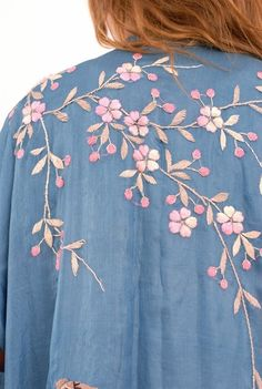 Crazy about clothing with lots of embroidery... I used to have quite a collection of very lightweight embroidered denim...