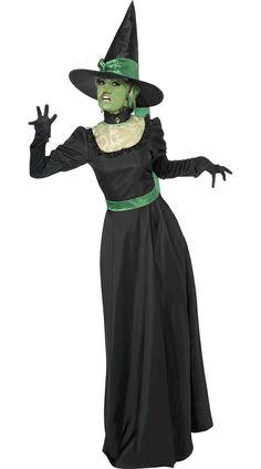 Halloween BLACK AND GREEN WITCH COSTUME - Cadılar Bayramı Kostümleri