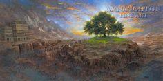 Tree of Life by Jon McNaughton Book of Mormon, Lehi's dream, Jon Mcnaughton, Book Of Mormon Stories, Lds Art, Litho Print, Dream Art, Religious Art, Religious Images, Fantastic Art, Christian Art
