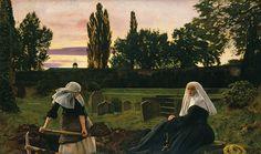 Sir John Everett Millais, Bt 'The Vale of Rest', (Museo de Arte Moderno) John Everett Millais, Baby Names Scottish, Kai, Pre Raphaelite Brotherhood, Tate Britain, Art Database, Art Uk, Old Master, Great Artists
