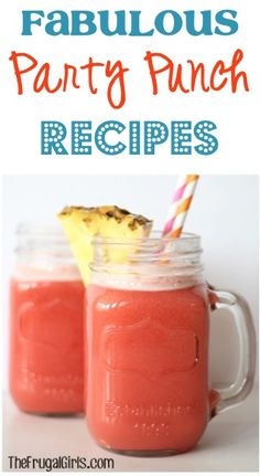 I LOVE punch! Fabulous Party Punch Recipes from TheFrugalGirls.com