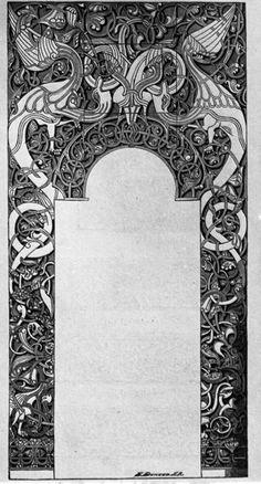 Portal frå Lomen stavkyrkje Celtic Tribal, Celtic Art, Celtic Patterns, Celtic Designs, 3d Tattoos, Tattoo Ink, Arm Tattoo, Sleeve Tattoos, Norse Tattoo