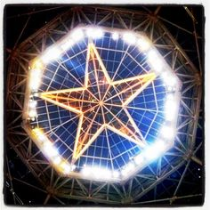Gaylord Texan has this Texas star at the top of the atrium ... gorgeous!
