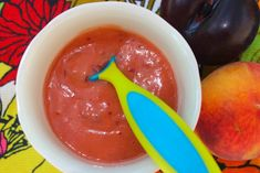 Peach Puree  I'm from the South and peaches are in season! Even though I'm making these foods for my baby, I can't wait to take her peach and apple picking. Learning about healthy eating is the key to opening up baby's palate to a wide array of new foods – even the ones that you yourself may not like.