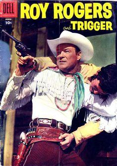 Roy Rogers and Trigger - Alex Toth art Vintage Comic Books, Vintage Magazines, Vintage Comics, Rogers Tv, Roy Rogers, Charlton Comics, Dale Evans, Alex Toth, The Rifleman