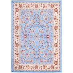 Well Woven Miami Bijar Classic Blue 8 ft. 2 in. x 9 ft. 10 in. Traditional Area Rug-84767 - The Home Depot