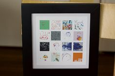 Display idea--scan children's artwork into collage--House of Hepworth