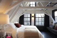 Conspicuous Style Interior Design Blog: 50 Favorites for Friday (#30). Awesome attic Reno.