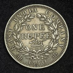 One Rupee coin issued by the East India Company