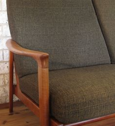 Parker Furniture. Mid Century Danish. Restored three seater lounge with original foam and fabric. I hope that this can be a good source on how to restore.