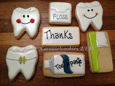 Carousel Cookies: dental theme cookies