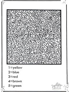 Difficult Color By Number Printables | FunnyColoring.com / Crafts / Coloring by number / Number coloring