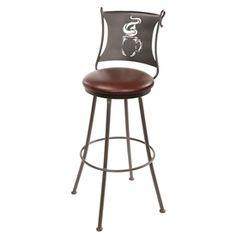 "Coffee Cup Cone Barstool 30"" by Stone County Iron Works"